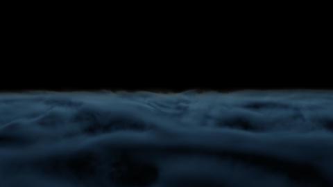Ground Smoke Fog loop dark blue Animation