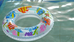 Circle Floating In The Pool Footage