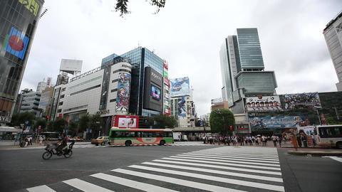 渋谷スクランブル交差点109方向(タイムラプス) Footage