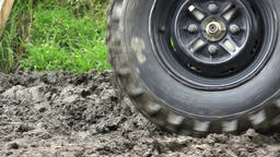 ATV Tire Spinning in Mud Footage