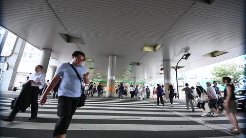 渋谷駅井の頭連絡通路下の横断歩道(タイムラプス) Footage