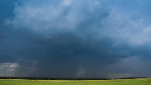 Rainy clouds in sky before thunderstorm time-lapse. Beautiful stormy landscape Footage