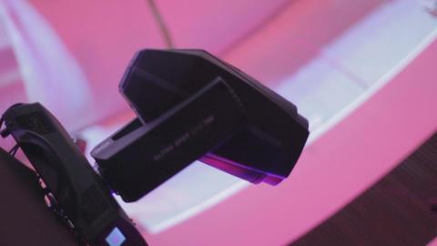 Dynamic club lighting (scanner) loopable programmed… Stock Video Footage