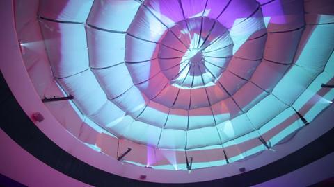 Ceiling above dance floor, VJ images Footage