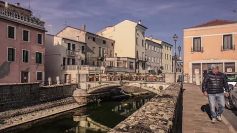 View of the historic center of Lendinara, a small Italian village #3 Footage