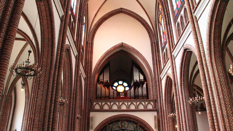 The organ sounds in Cathedral of Lodz. sound of the organ in temple Live Action