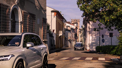 View of the historic center of Lendinara, a small Italian village #5 Footage