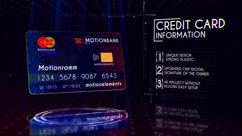 Plastic Card Presentation Plantilla de After Effects