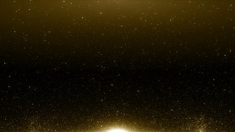 Particles gold bokeh glitter awards dust abstract background loop GIF