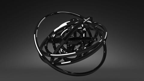 Circle Abstract On Black Background CG動画