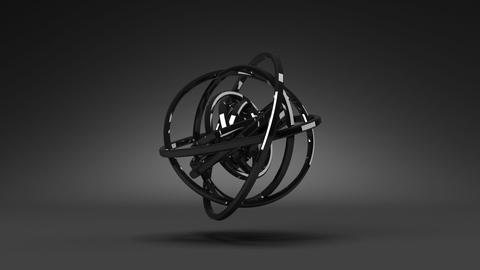 Loop Able Circle Abstract On Black Background Stock Video Footage