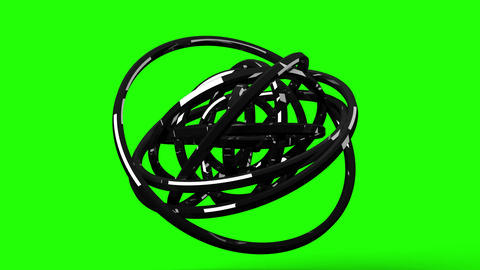 Circle Abstract On Green Chroma Key CG動画