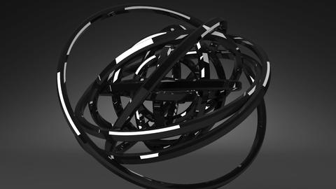 Loop Able Circle Abstract On Black Background CG動画