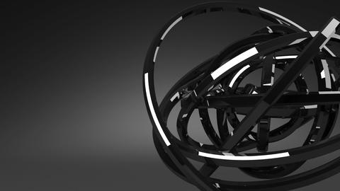 Loop Able Circle Abstract On Black Text Space CG動画