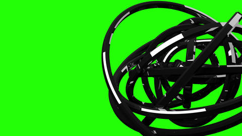 Loop Able Circle Abstract On Green Chroma Key Animation