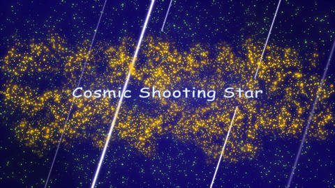 Cosmic Shooting Star After Effects Template