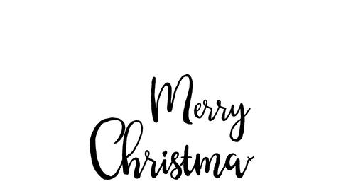 merry christmas logo, designed in chalkboard drawing style, animated footage Archivo