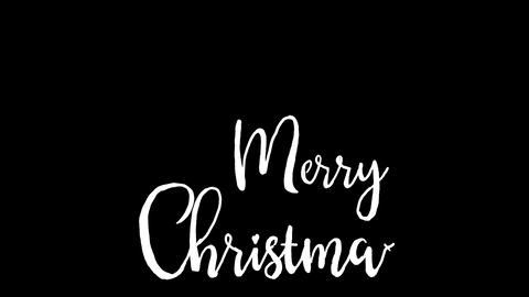 merry christmas logo, designed in chalkboard drawing style, animated footage Footage