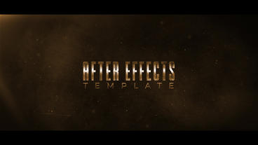 Cinematic Title Intro After Effects Template
