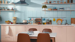 Luxury kitchen interior, no people Footage