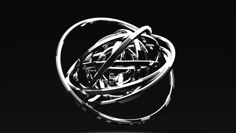 Spotlighted Silver Circle Abstract On Black Background CG動画