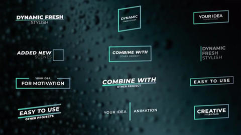 Titles pack After Effects Template