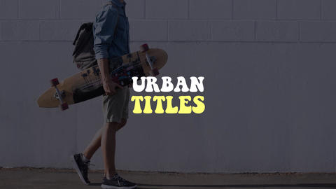 Urban Titles Motion Graphics Template