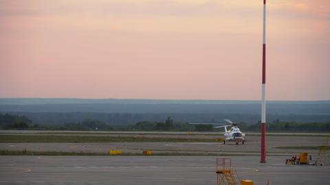 Helicopter landing at Kazan Airport GIF