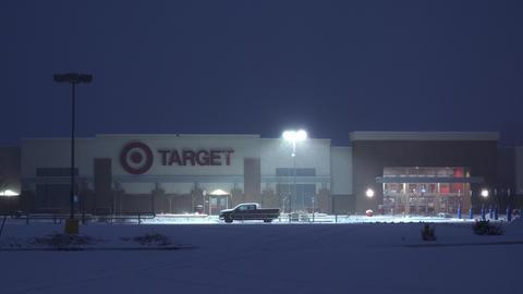 Target Retail Store Night Snowstorm GIF