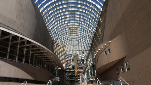 Denver Center for the Performing Arts Atrium Walking In Footage