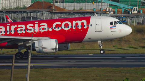 Airbus A320 landing at Phuket airport GIF