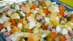 The mixed vegetables for salad GIF