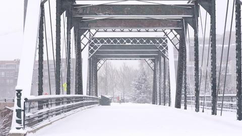 Bridge in Blizzard in Denver GIF