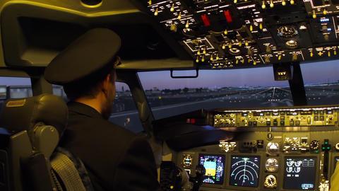 Civil aircraft cockpit GIF