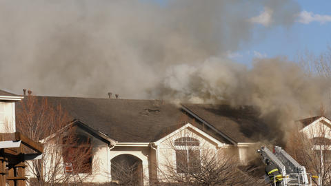 Condo Fire Smoke and Flames GIF