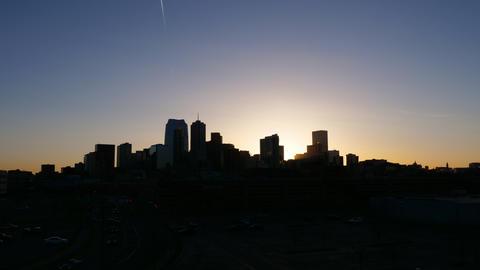 Colorful Denver Skyline Sunrise Timelapse GIF