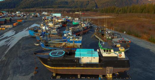 Fall shipyard Fotografía