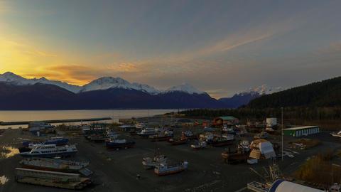 Night shipyard views Fotografía