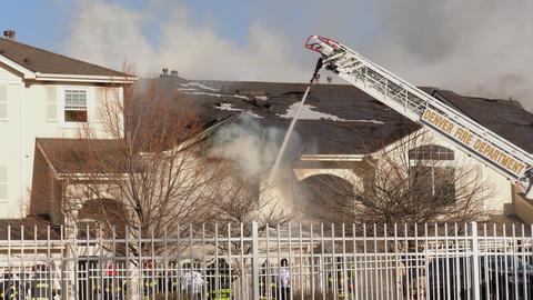 Denver Fire Department Extinguishing Condo Fire Footage