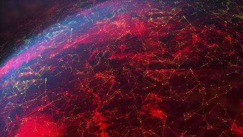 Abstract background moving pass-through dot particle and illumination, for cyber and futuristic GIF