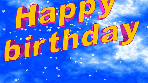 167 3d animated template for greeting with words Happy birthday Videos animados