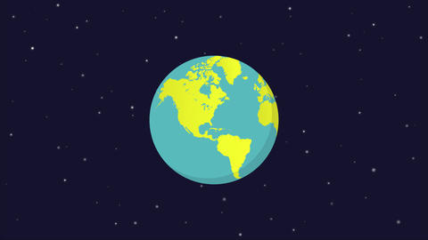 Globe spin flat design Plantilla de After Effects