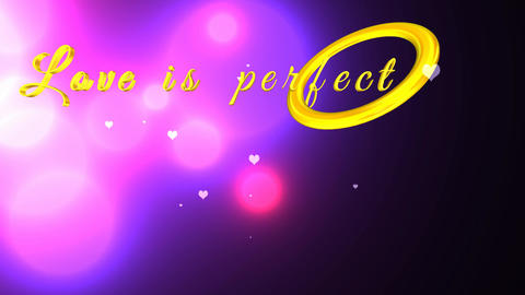 170 3d animated template greeting with words love is perfect kindness Videos animados