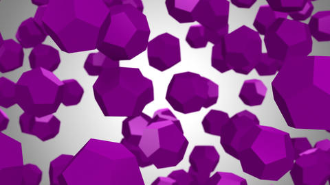Background of Dodecahedrons GIF