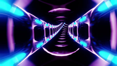 abstract futuristic sci-fi tunnel corridor 3d illustration motion background Animation