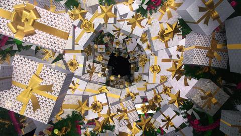 Christmas Gift Box Style Art Deco 01 GIF