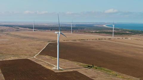 Wind turbine Renewable energy, sustainable development, environment friendly GIF