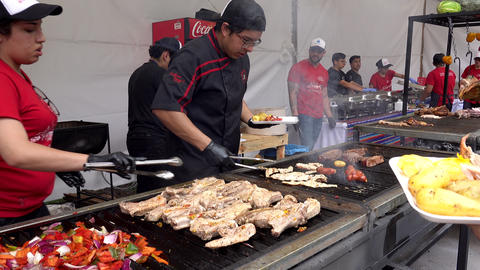 Cuenca, Ecuador - 2019-11-02 - Cuenca Days Street Fair - Lunch Plate is Served Footage