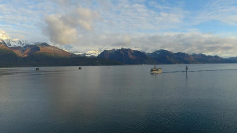 Fishing boat in Alaska Live Action