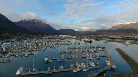 Seward, Alaska boat harbor Footage
